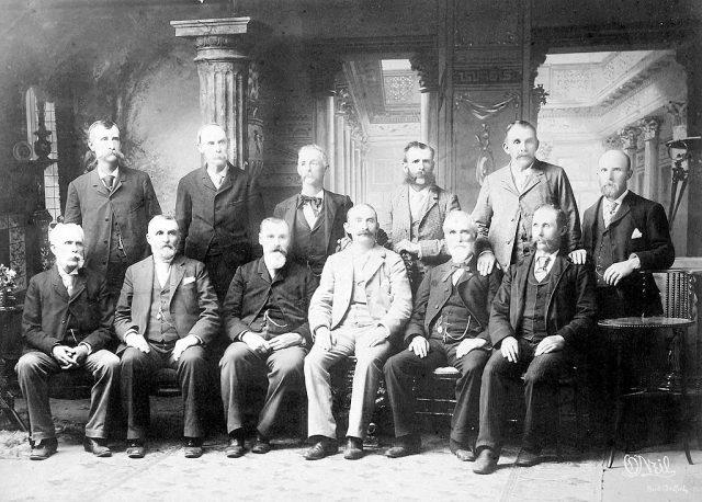 Lizzie Borden Trial Jury, 1893.