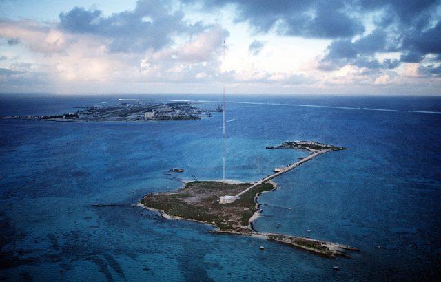 Johnston Atoll aerial view.