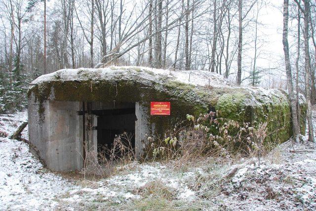 Fortification of Karelian fortified region in Kalelovo.