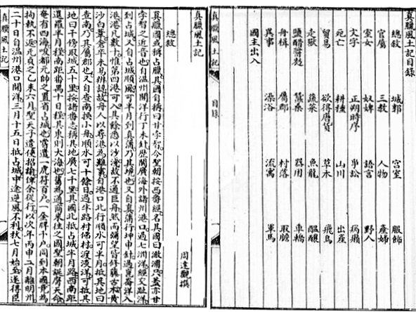 The Customs of Cambodia, an account by Zhou Daguan of his travel in Cambodia in the late 13th century.