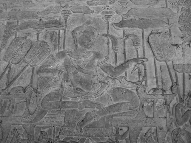 Suryavarman II in procession at Angkor Wat, the Khmer King who built Angkor Wat in the early 12th century as the capital of the Khmer Empire and as his state temple and eventual mausoleum. Author:Soham Banerjee CC BY 2.0