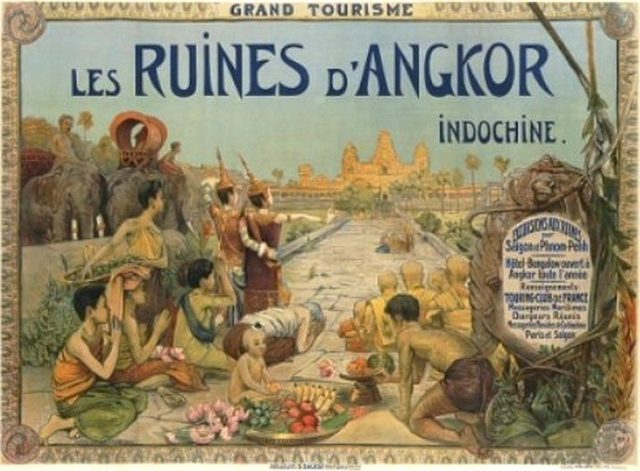 French postcard about Angkor Wat in 1911.