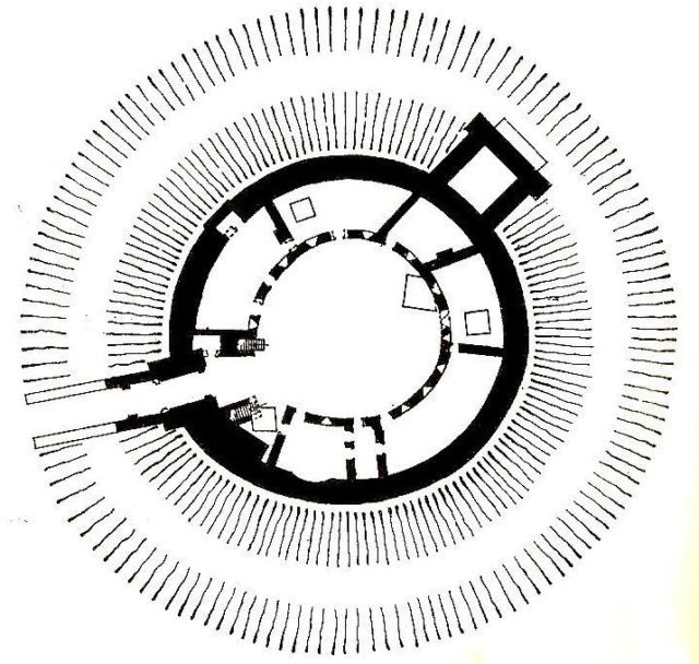 Plan of the castle.