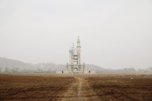 In the Changping District of China, some 20 miles outside of Beijing, the ruins of an abandoned fairy tale castle rises out of the desolate landscape. Author:Joe Wolf CC BY 2.0