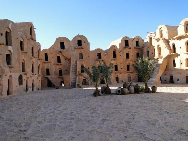 Ksar courtyard. Author:Ggeorgery CC BYSA4.0