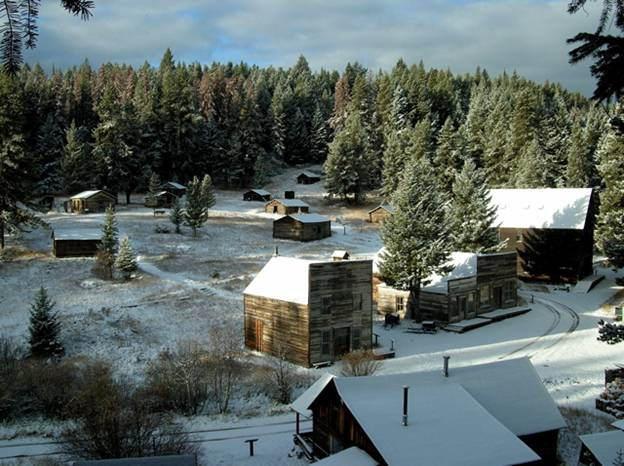 Winter in Garnet, Montana. Author: mypubliclandsCC BY 2.0