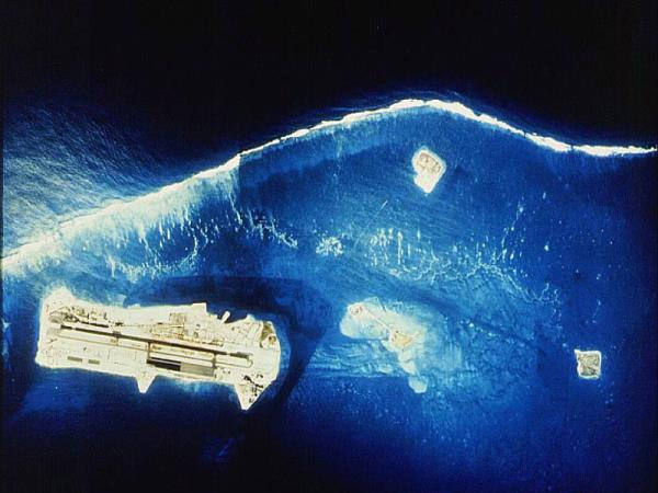 Aerial shot of Johnston Atoll.Author:PEO ACWACC BY 2.0
