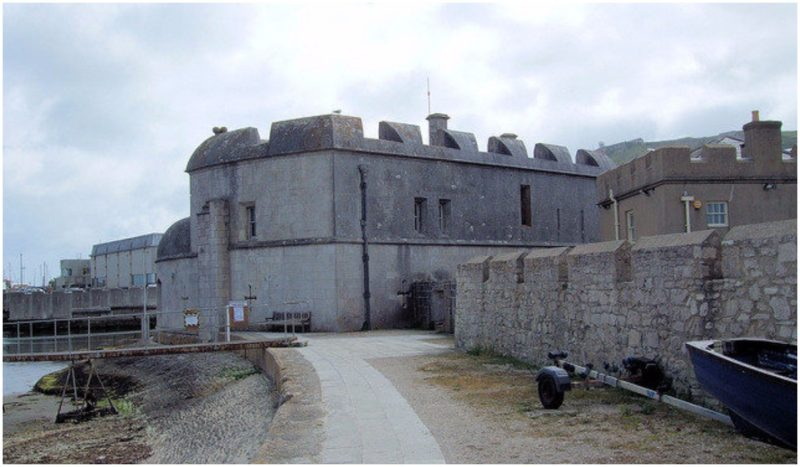 The fan-shaped castle was built from Portland stone. Author:Jim Linwood CC BY2.0