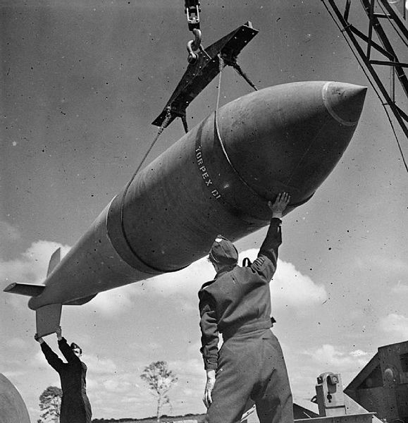 A 12,000 lb deep-penetration bomb used to bomb the bunker.
