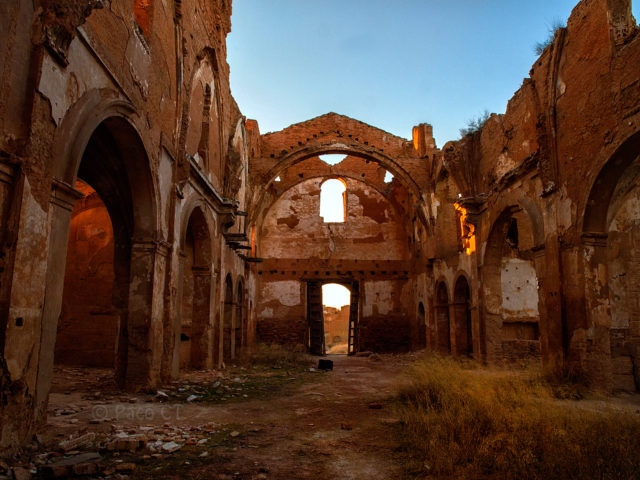 Inside of a destroyed building, Belchite.Author:Paco Calvino CC BY2.0