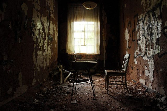 An abandoned window – the only contact with the outside world.Author:Will FisherCC BY-SA 2.0