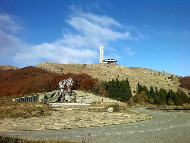 Buzludzha & Torch Monument. Author:BeITCC BY-SA 4.0