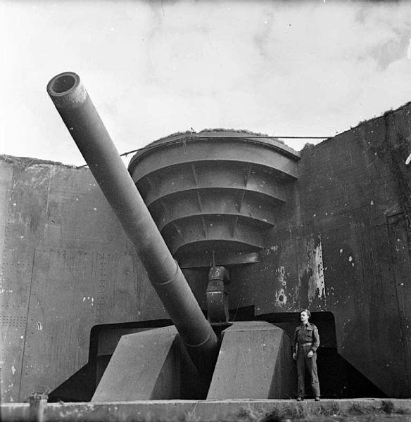 Captured German 380mm gun from the Atlantic Wall.