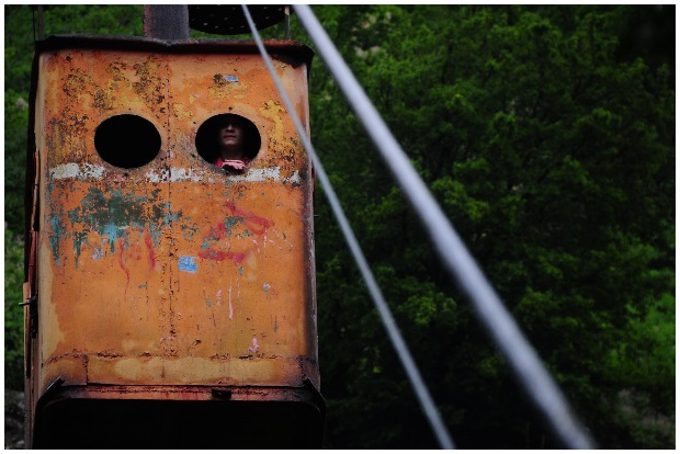 One of the notorious cable cars of Chiatura. Present day, still in use. Panegyrics CC BY 2.0