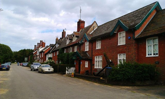The village of Dunwich in Suffolk; the closest building is the local museum. Summer 2012. Author:MidnightblueowlCC BY-SA 3.0