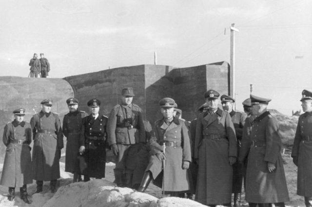 Field Marshal Erwin Rommel visiting the Atlantic Wall defenses. Author:Bundesarchiv, Bild 101I-295-1596-12 / Kurth / CC-BY-SA 3.0