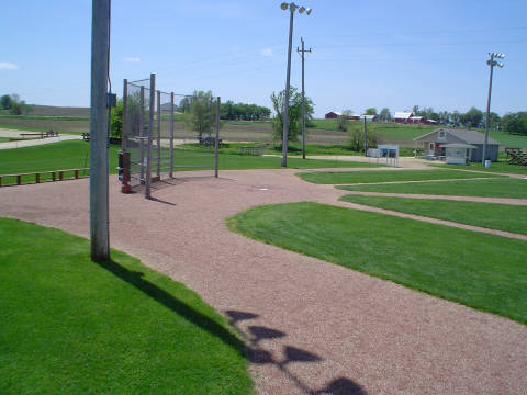 This photo shows the field as seen from the bleachers that Kevin Costner's character Ray Kinsella built at the beginning of the movie. Author:Jesster79CC BY-SA 3.0