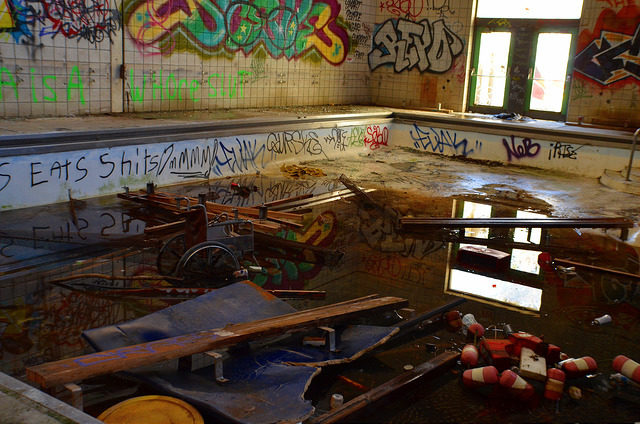 Graffiti in the recreation building.Author:Nicole ComptonCC BY 2.0