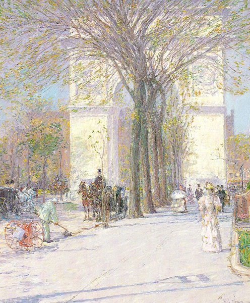 Washington Arch, c. 1893, by Childe Hassam.