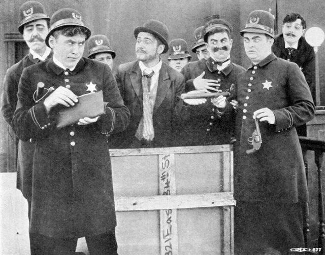 The Keystone Cops in The Stolen Purse (1913).