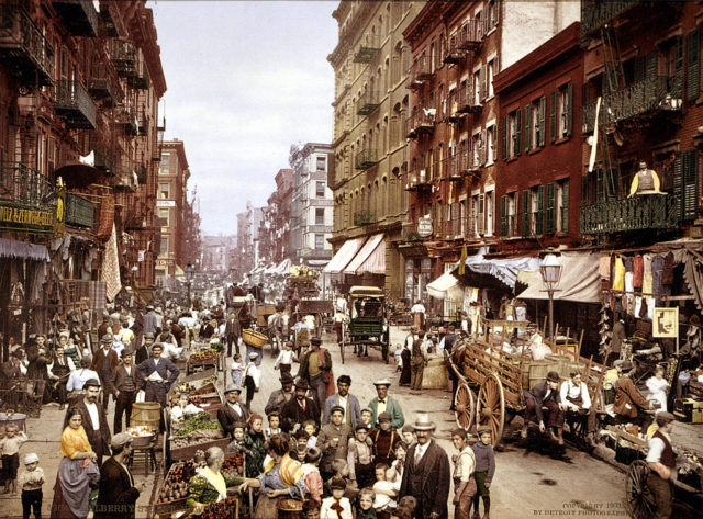 Mulberry Street – Lower East Side Circa 1900.