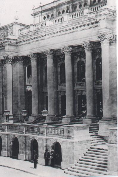 The façade of the Opera House.