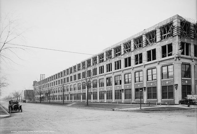 Packard plant in construction.