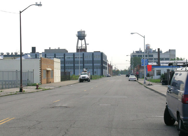Piquette Avenue – where the Ford plant is located. Author:Andrew JamesonCC BY-SA 3.0