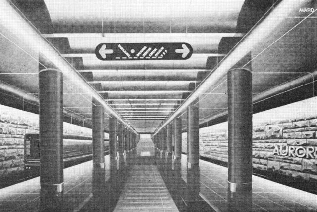 The project of Aurora station 1983.