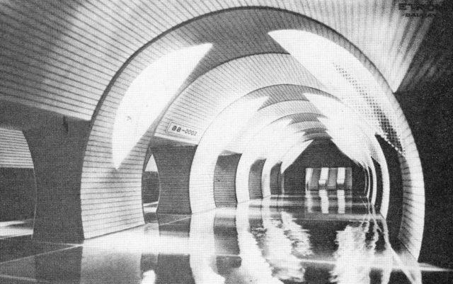 A project of Daugava station 1983.