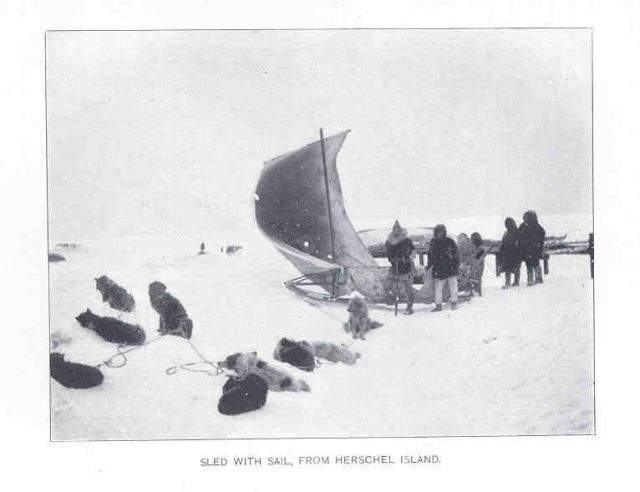 Sled With Sail, on the Hershel Island.