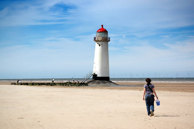 A shot of Talacre Lighthouse from the beach.