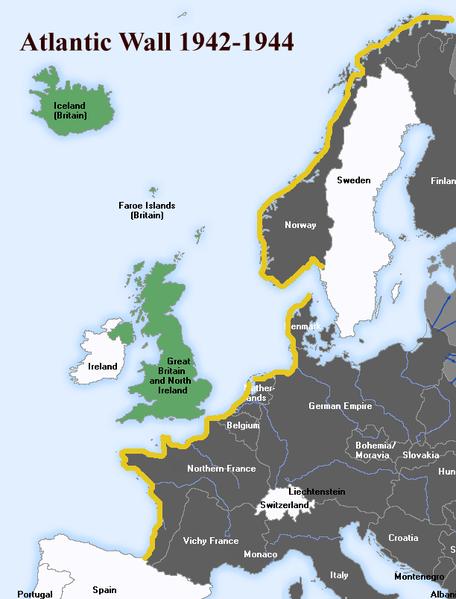 The Atlantic Wall. Author:UberstrokerCC BY-SA 3.0