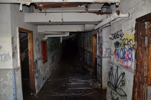 """The """"cheese"""" graffiti on the right wall.Author:FairbanksMikeCC BY 2.0"""