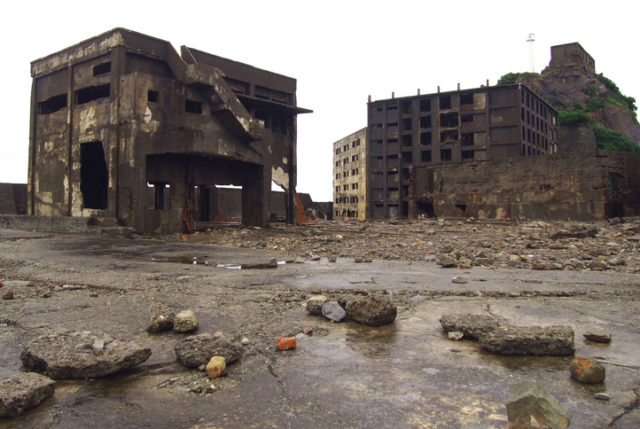 Gunkanjima also known as Hashima or Battleship Island in Nagasaki Japan, is former coal mining island. It was closed in 1974 due to the closure of the mine.