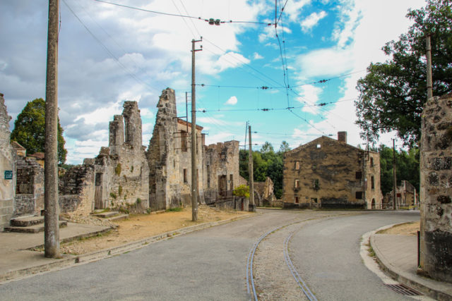 Part of the village of Oradour-sur-Glane thats never restored after the second world war