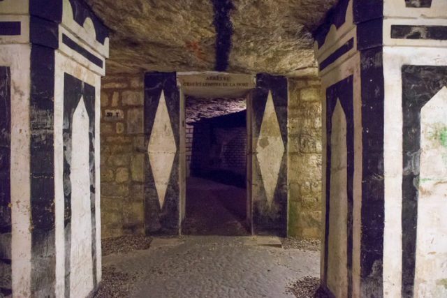 Entrance to the catacombs, the empire of the dead. Originally a quarry/mine for the building stones.