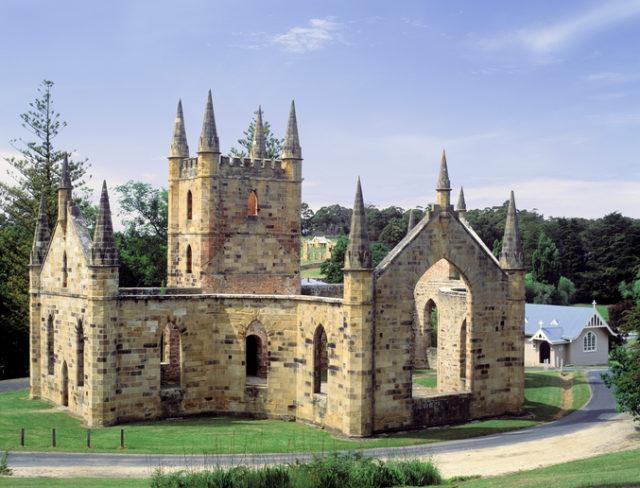Port Arthur Tasmania the old church ruins