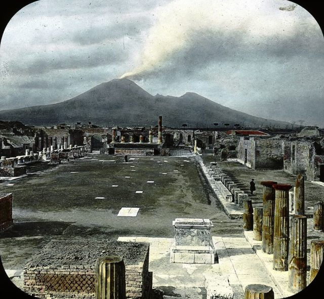 Pompeii, Italy. Pompeii – Forum and Vesuvius