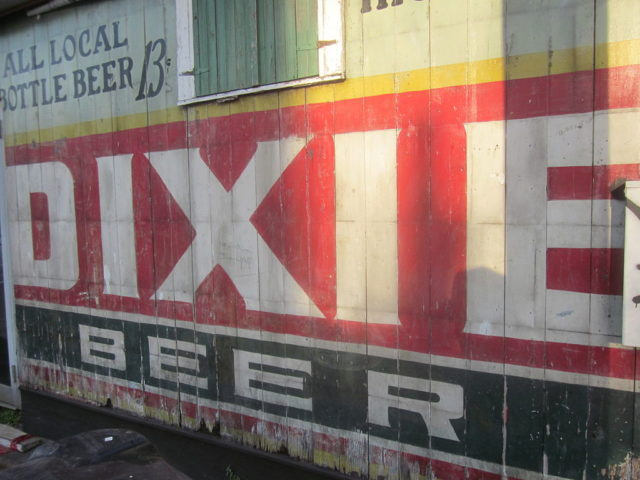 An old Dixie Beer outdoor advertisement revealed during renovation in New Orleans' Faubourg Marigny neighborhood. Author: Infrogmation CC BY-SA 2.5