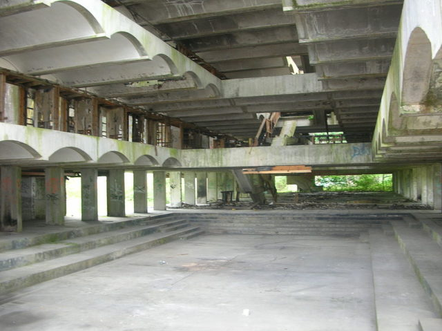 Chapel at St Peter's Seminary in Cardross designed by Gillespie, Kidd, and Coia.Author:Maccoinnich CC BY-SA 3.0