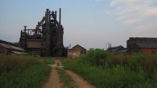 Blast furnace A at the flagship plant in Bethlehem, Pennsylvania, 2009. Author:PollyKanterCC BY-SA 3.0