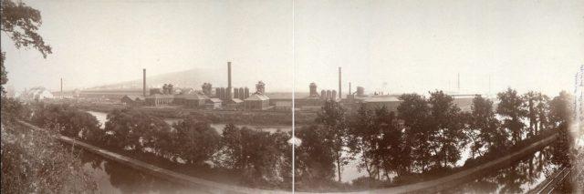 The Bethlehem Steel plant, photographed circa 1896 by William H. Rau.