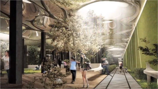 Artist's concept of the proposed park design. Author: TheLowline CC BY 3.0