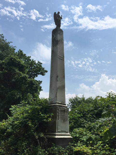 Great obelisk with a statue on the top.Author:Shannon McGeeCC BY-SA 2.0