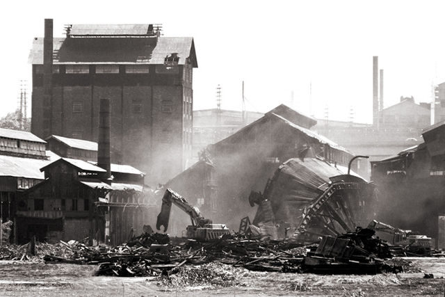 Demolition of part of the original facility in Bethlehem in 2007.Author:UrbanarcheologyCC BY 2.5