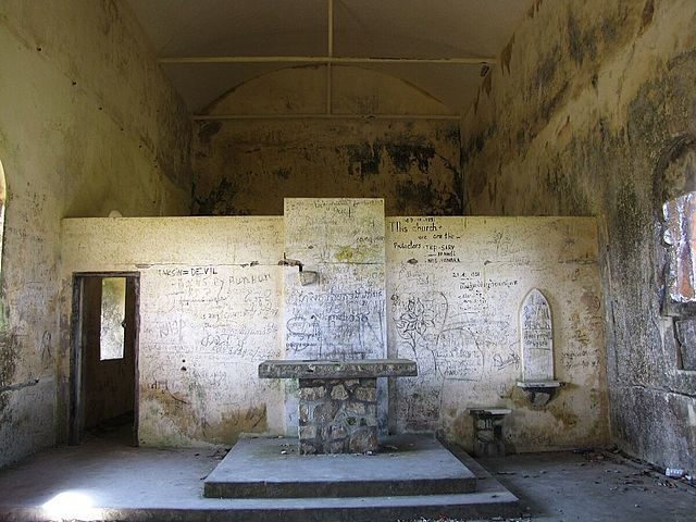 The abandoned church, Bokor Hill Station, Cambodia. Author: Lutz Maertens CC BY 3.0
