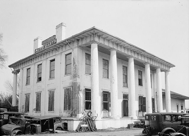 Rear view of the Drish house.