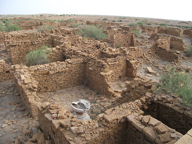 Ruins of Kuldhara houses.Author:Archan daveCC BY-SA 3.0