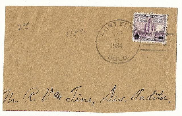 Postmark 1934.